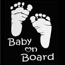 Baby on Board Baby Footprints Car Sticker Cute Letter Safety sign