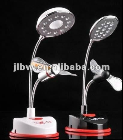Desk lamp fan with flashing words at cheap price
