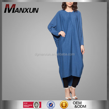Islamic Clothing Plus Size Batwing Sleeve Dress Solid-coloured Long Sleeve  Bat Sleeve Dresses - Buy Plus Size Batwing Sleeve Dress,Bat Sleeve ...