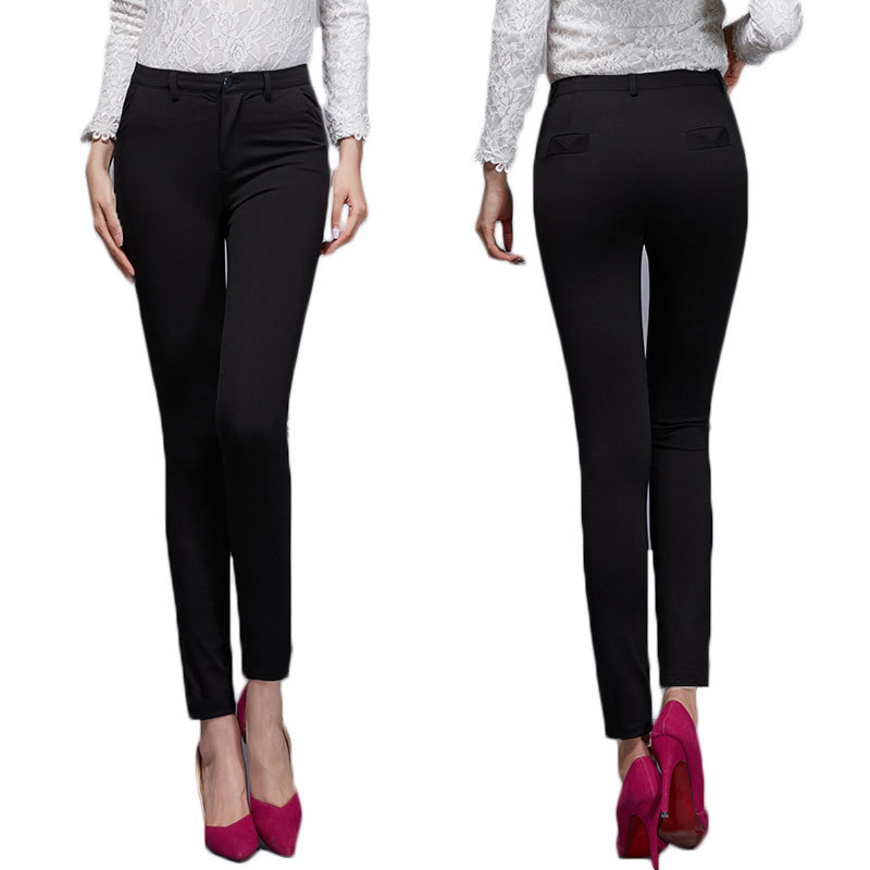 cheap womens black work pants - Pi Pants