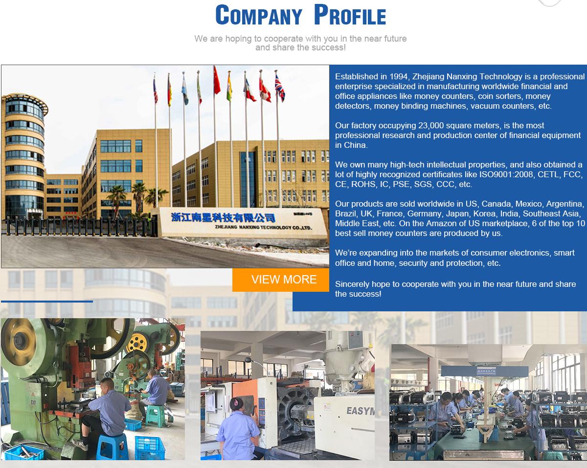 Zhejiang Nanxing Technology Co , Ltd  - Money Counter, Bill
