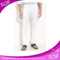 Mens white wholesale china skinny used jean