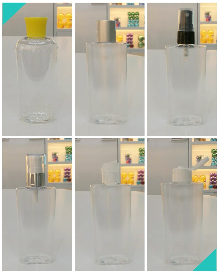 OEM ODM EMPTY CLEAR PET PLASTIC 80ML BABY OIL BOTTLE
