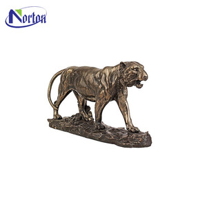 hot sell fashion realistic life size tiger brass animal statues NT-BS01