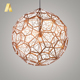 New design aluminum circle bird nest shape decorative ceiling hanging wire pendant lights fittings for restaurants