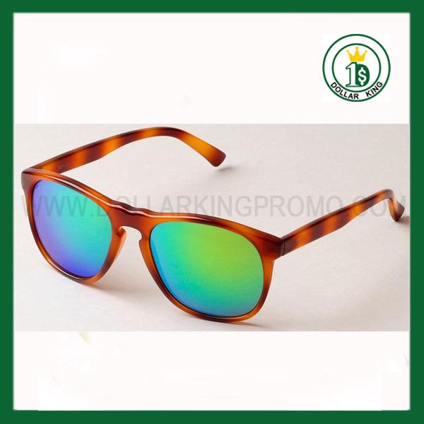 549fb05db4 color espejo gafas De plástico personalizada Promocional espejo verde lente  de leopardo Wayfarer Gafas Sol