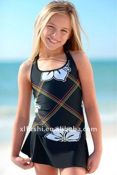 1642508ccfdff Junior Girls Swimwear Black Rainbow Sport Tankini - Buy Junior Girls ...