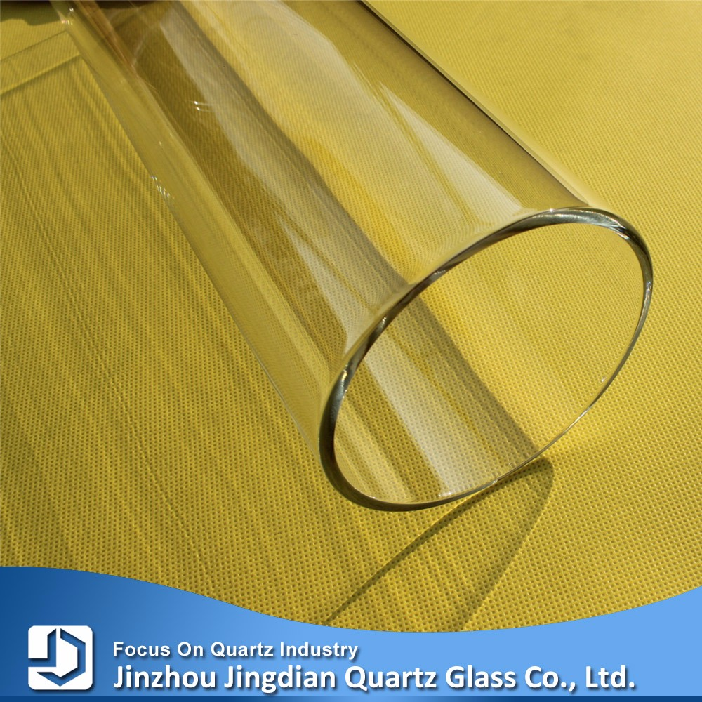 JD High Purity Transparent Fused Silica Hollow Tube Glass