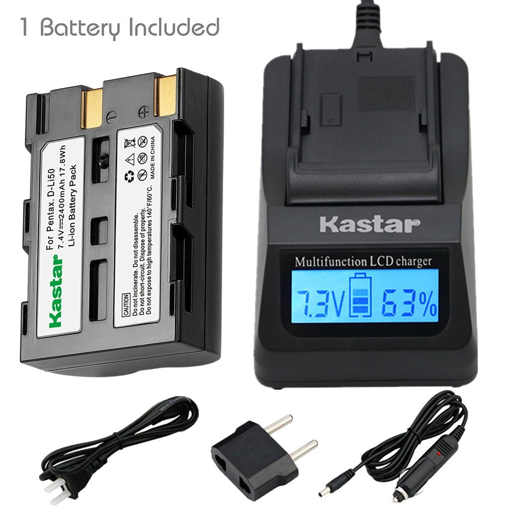 Kastar BatteryDual LCD Fast Charger for Panasonic VW