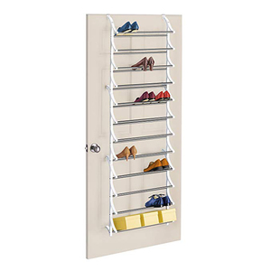 36pairs over door hanging shoe rack 12tier shelf organizer storage stand holder