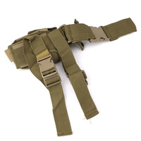 High Quality Belt To Leg Adjustable Police Tactical Nylon Bag Pistol Gun Holster