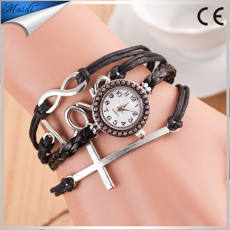 Hot Women Handmade Long Strap Bracelet Fashion Retro Cheap Love Vintage Ladies Wristwatch Wholesales reloj RW008