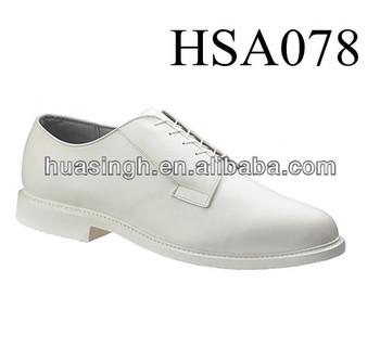 U.s. Navy Style White Genuine Leather