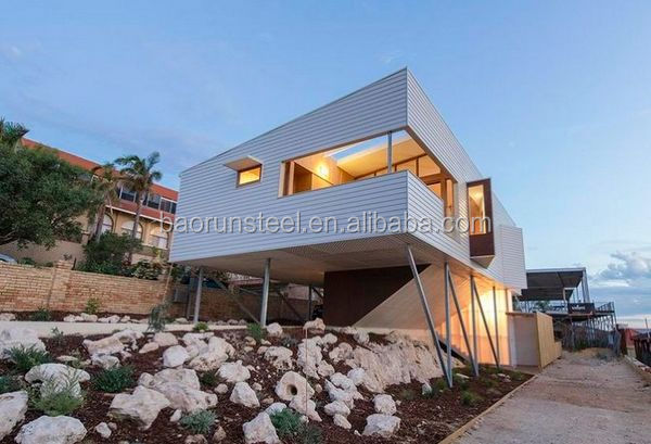 Light Steel Structure Prefab Kit Villa Prefabricated House with Modern Design Idea