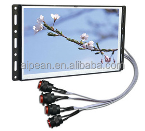 10 inch digital open frame push button LCD Advertising player with tempered glass
