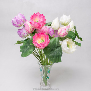 Different Kinds Flower Names Realistic Decoration Artificial Water Lily Flowers for Sale