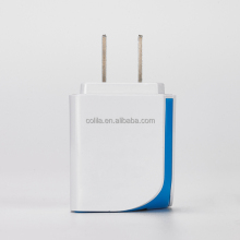 Portable 5V 2.1A Dual USB Port Plastic Home Charger & Travel Charger