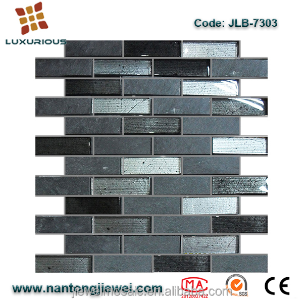 Quantum 12x12 Artic Cloud Glass Stone Blend 5/8x5/8 Mosaic Tiles JLB7303