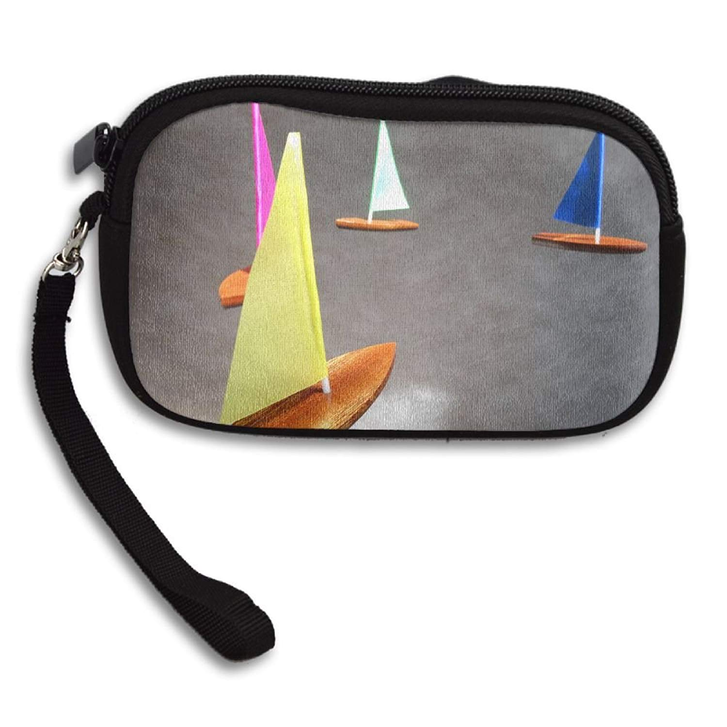 Colorful Sailboat Deluxe Printing Small Purse Portable Receiving Bag