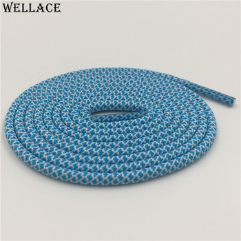 Wellace 4.5mm thick shoe laces dark grey shoelaces light blue laces