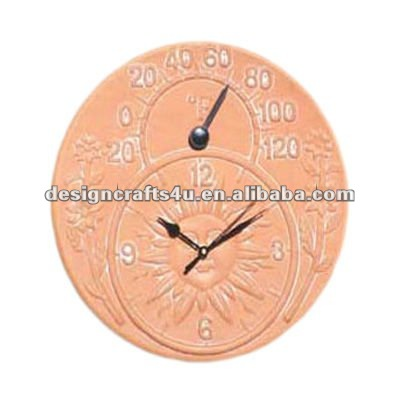 Terracotta Garden Clocks And Thermometers Garden Ftempo
