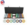 poker chip set with alum box for packing . 200 500 650 pcs in one set