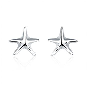 Small Boy Starfish Earrings Studs Top Earring