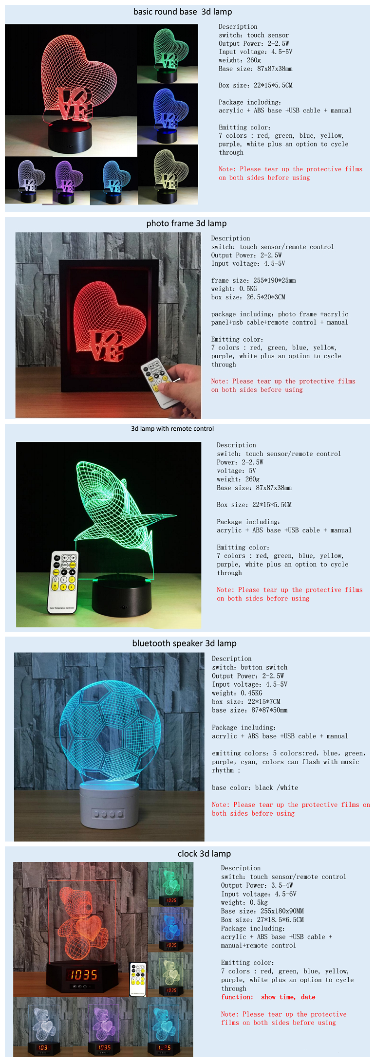 Tier dinosaurier 3D Lampe Touch Sensor 7 Farbwechsel Dekorative Lampe 3d Led Nacht Licht wecker lampe