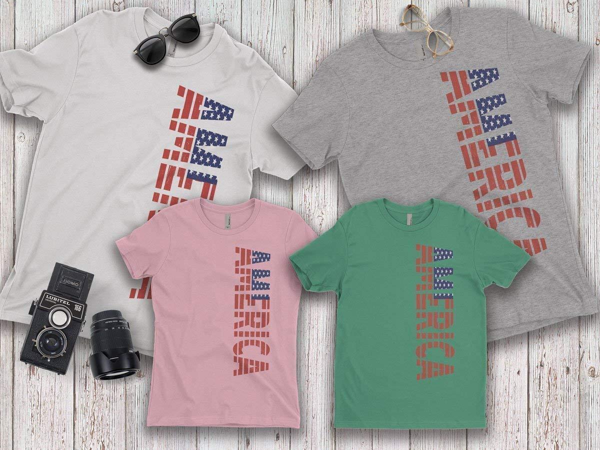 85da12b96cad Get Quotations · America, Family T-shirts for Men,Women, Dad, Mom, Boy
