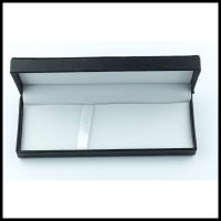 Good quality Black pen case with logo gold plastic packaging pen box display box