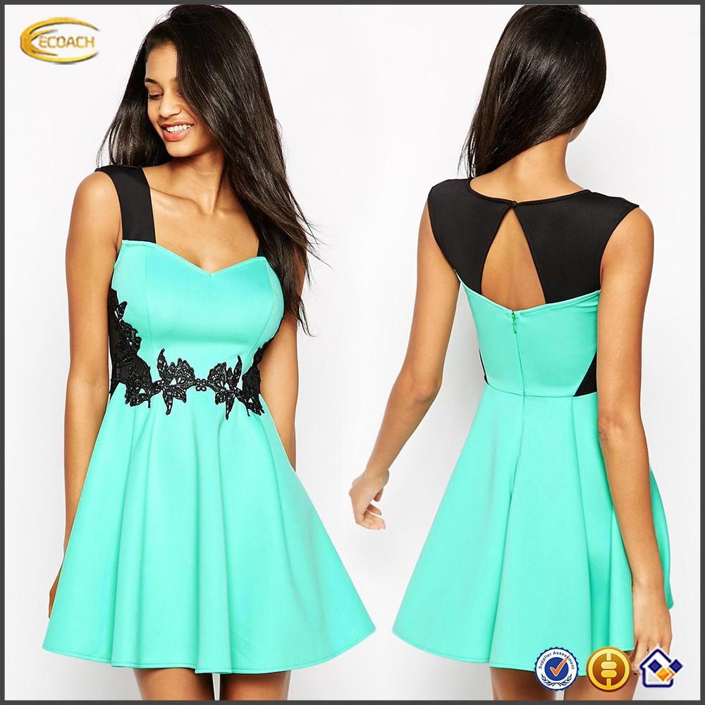 058b09dd3 Vestidos de color azul turquesa cortos - Vestidos no caros 2019
