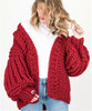 Brand name lazy V neck 5 GG hand knitted sweater women cardigan