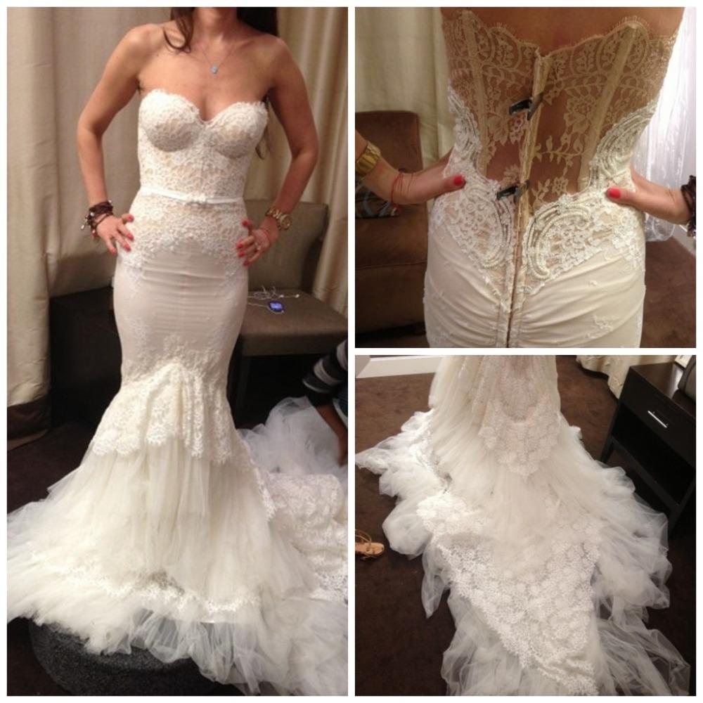Inbal Dror Wedding Gowns: 2015 Plus Size Mermaid Inbal Dror Dress Sweetheart White