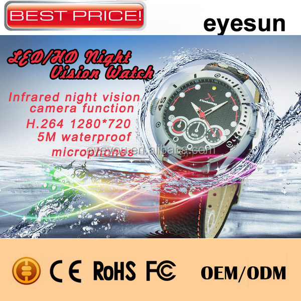 2014 New Product Watch Spy, Night Vision Spy Watch Camera,720P Spy Camera Watch,H.264 Hidden Camera Watch