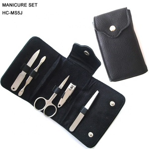 Stainless steel mini manicure set in money bag , pocket bag manicure set