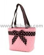 COTTON QUILTED MONOGRAMMABLE SMALL TOTE bag