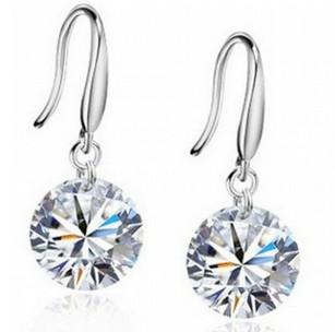 Ааа кристалл серьги 925 строк серебро камень серьги драгоценный камень высокое качество лучший подарок бесплатная доставка