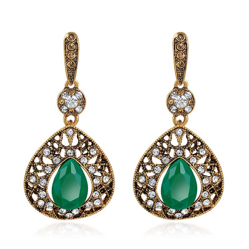 Wholesale earring jewelry royal court vintage antique drop earrings for women