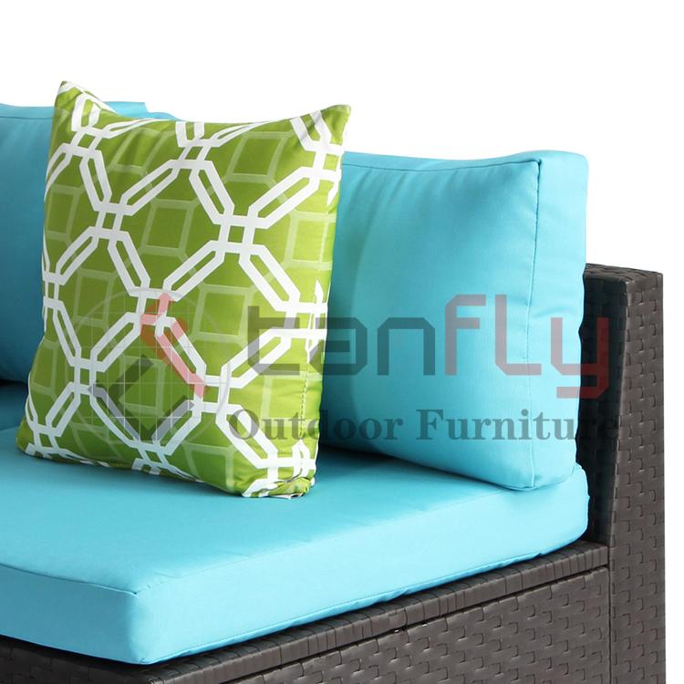 Patio Rattan Wicker Furniture Outdoor L Shape White Sofa Set