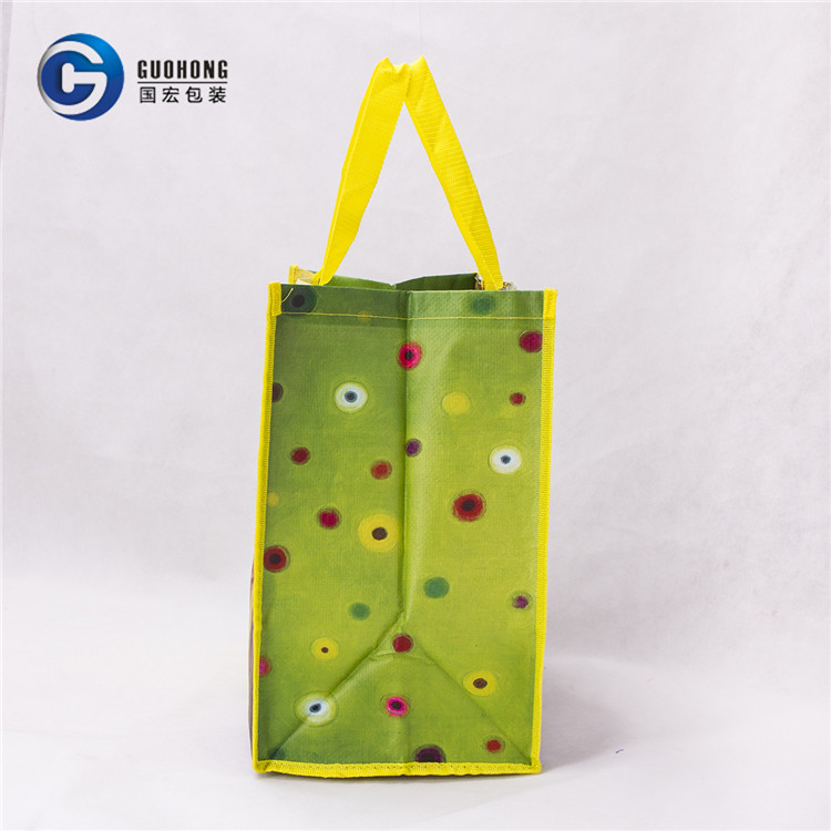 China Supplier Make Up High Quality With Double Handle Color Lamination Pp Woven Shopping Bag