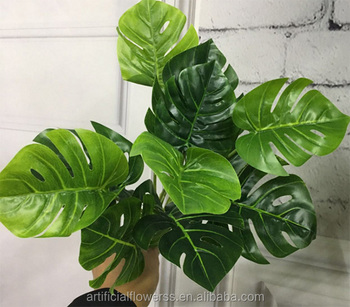 high quality 11 heads green artificial foliage plants for flower