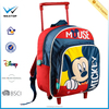 ODM polyester Child trolley school bag mickey mouse boy's rod Trolley Backpack primary student BSCI NBCU FAMA factory