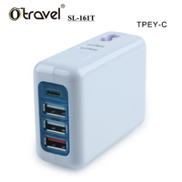 Otravel NEW SL-161T travel adapter with usb 4 ports universal phone charger UK US EU AU plugs QC 3.0 quick usb c charger
