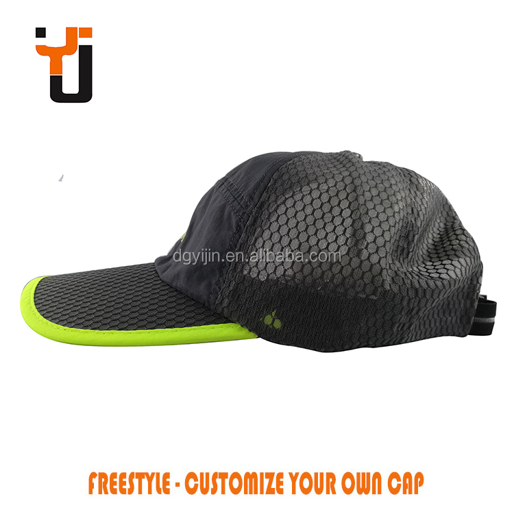 Tennis or Cycling Cap Five Panel Breathe Mesh Hat Unstructured Baseball Cap