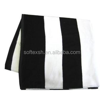 Wholesale Black And White Striped Bath Towel Black White Bath