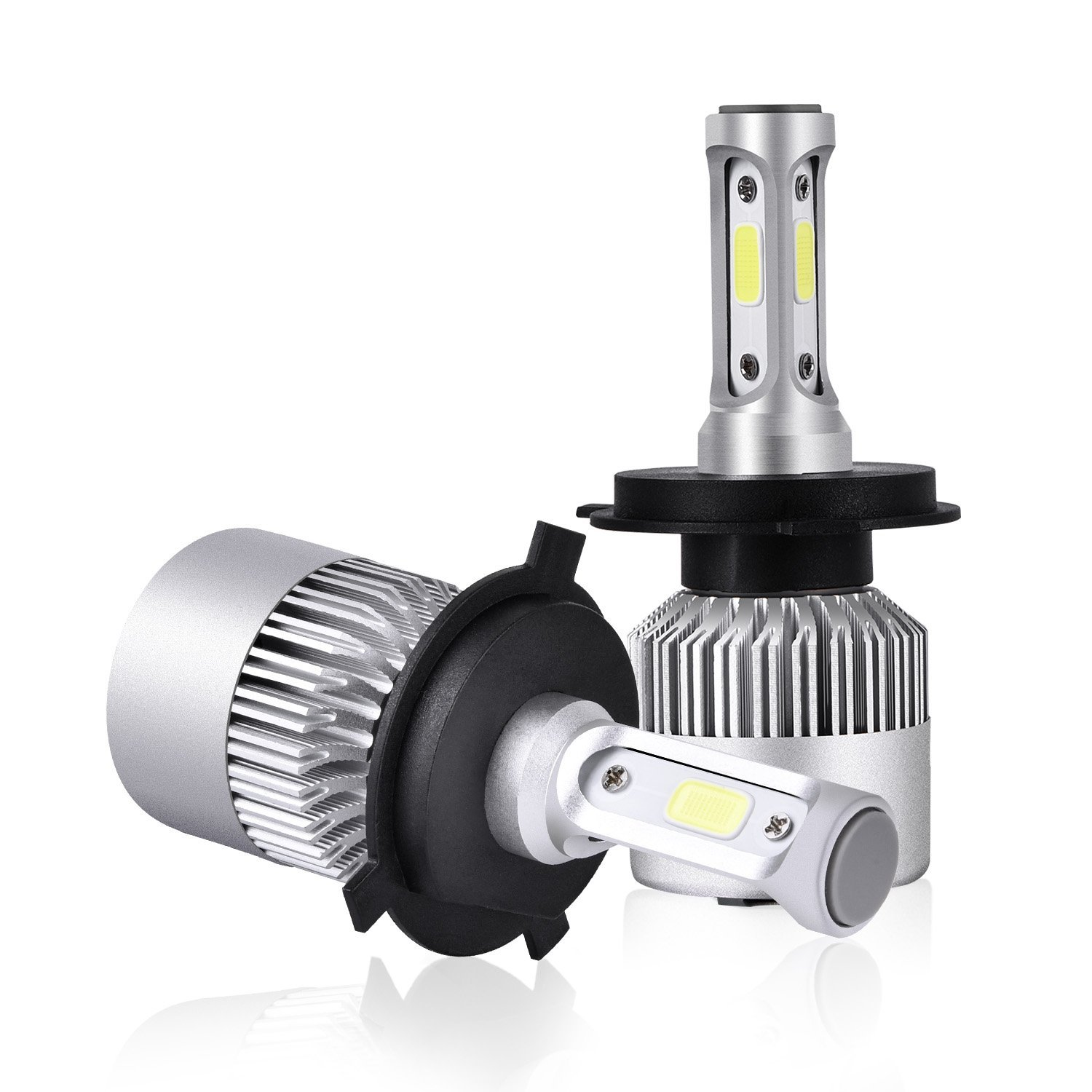 ACUMSTE H4/HB2/9003 100w LED Headlight Bulbs COB Chips High/Low Beam 100W 8000LM 6000K Cool White H4/HB2/9003 LED Headlight Bulbs Conversion Kit