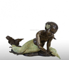 Bronze Laying Mermaid Holding Shell Fountain/Bronze Mermaid Statue/Bronze Mermaid Fountain