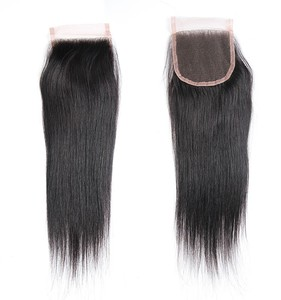 Cheap lace closures brazilian hair,human hair weave bundles closure,brazilian straight hair extension bundles with closure