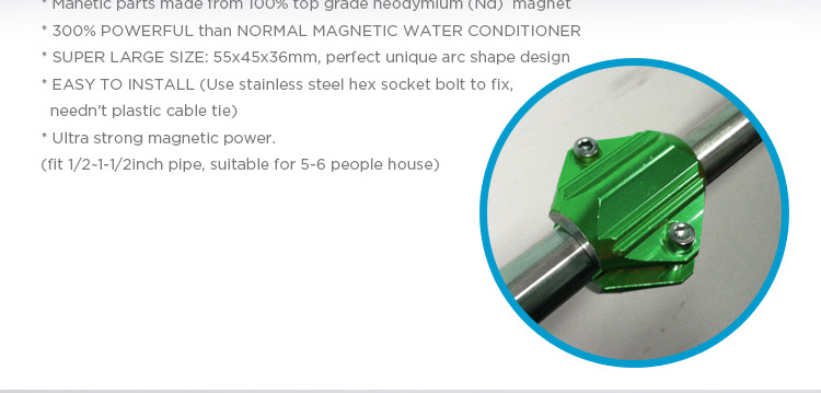 Magnetic Water Softeners Magnet & Conditioner Descaler Limescale Remover, Iimproving Water Quality for Home Kitchen