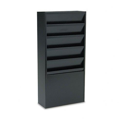 Buddy Products 5 Pocket Display Rack, Steel, 4 x 20.375 x 9.75 Inches, Black (0811-4)